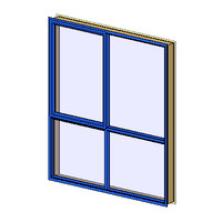 AW 22 aluminum architrave 1top sash (NZ)