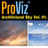 3dRender Pro-Viz Architectural Skies Vol. 01