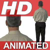 High Definition Animated People Textures - HD Brian Casual