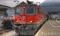 SBB RE-III AND RE-406 LOCO AT INTERLAKEN