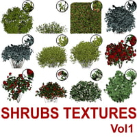 Cut-out Shrubs Vol1