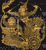 THAI GOLD FABRIC MASKING ARTS B