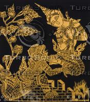 THAI GOLD FABRIC MASKING ARTS D