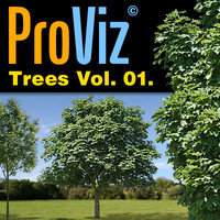 3dRender Pro-Viz Trees Vol. 01