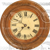 wooden clock face texture