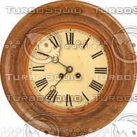 wooden clock face texture