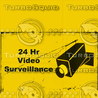 24 Hr Video Surveillance dirt texture