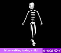 emo0006-Mum walking taking child