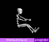 emo0007-Entering driving car
