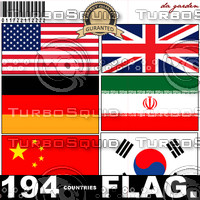194 countries flag.