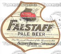 Falstaff Beer Label
