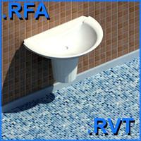 revit plumbing fixtures sink 11 2D&3D