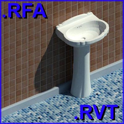 3d model of revit plumbing fixtures sink