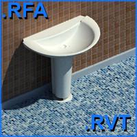revit plumbing fixtures sink 12 2D&3D