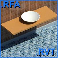 revit plumbing fixtures sink 08 2D&3D