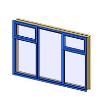 AW 212 Variable aluminum architrave top sash (NZ)