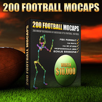 200 Football Mocap Animations
