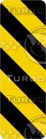 Caution Stripes 4b Sign