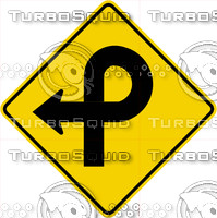 Caution 270 Turn Sign