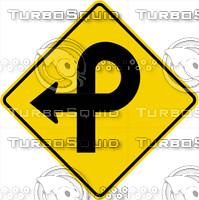 Caution 270 Turn Sign