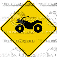 Caution ATV Crossing Sign