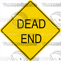 Caution Dead End Sign