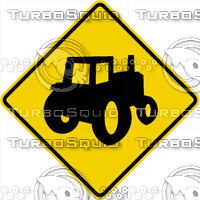 Caution Farm Equipment Sign