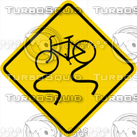 Caution Slippery Bike Sign
