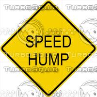 Caution Speed Hump Sign