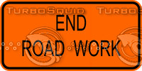 Construction End Road Work Sign