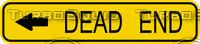 Dead End Left Arrow Sign