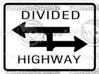 Divided Highway Sign Texture