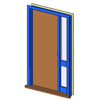 Ext Single-In Timber-Flush-Sidelight (NZ)