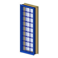 FL 1 Aluminum-Architrave GlassBlock infill (NZ)