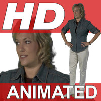 High Definition Animated People Textures - HD Steph Casual