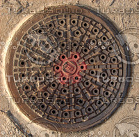 Manhole Sewer Cover - High Res