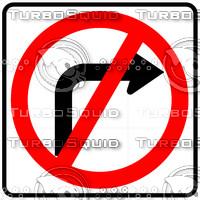 No Right Turn Symbol Sign