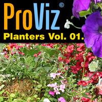 3dRender Pro-Viz Planters Vol. 01