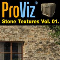 3dRender Pro-Viz Stone Wall Vol. 01
