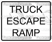 Truck Escape Ramp Sign