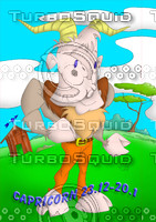 horoscope cartoon character  - capricorn