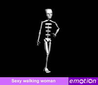 emo0007-Sexy walking woman