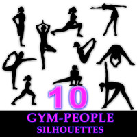 gym people silhouettes