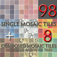 Mosaic Tiles colored set