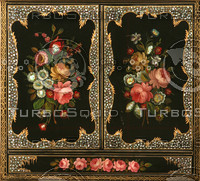 Floral panel texture