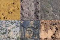 6 perfectly tiled rocks phototextures