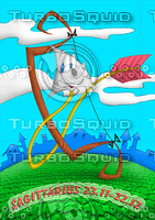 horoscope cartoon character  - sagittarius