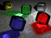 Tastey colorfull cubes, art rendered with vRay.