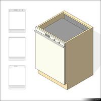Kitchen Floor Unit Dish Washer 00976se