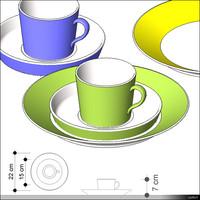 Set of Dishes 00991se